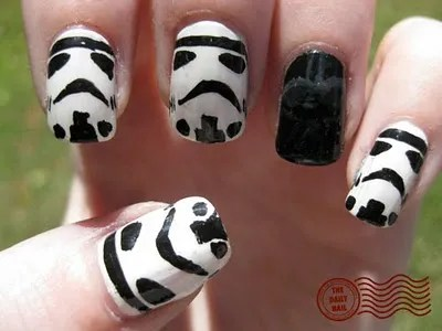 Stormtrooper Manicure Featuring Darth Vader