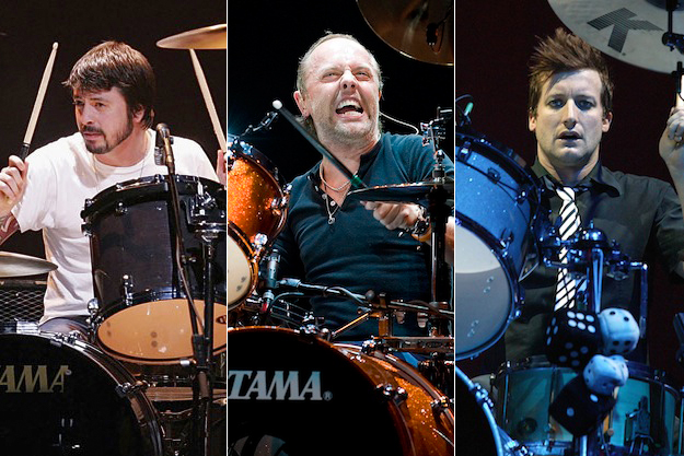 Dave Grohl Lars Ulrich and Tre Cool