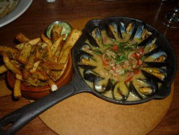 Mussels and Herbed Fries