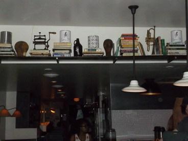Shelf at Entrance by Bar