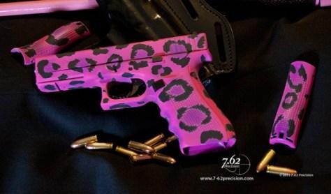 Hot Pink Leopard Print Gun