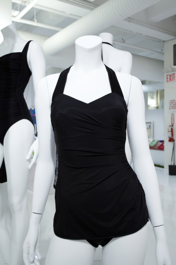 Black Suit Deep with Mock Skirt
