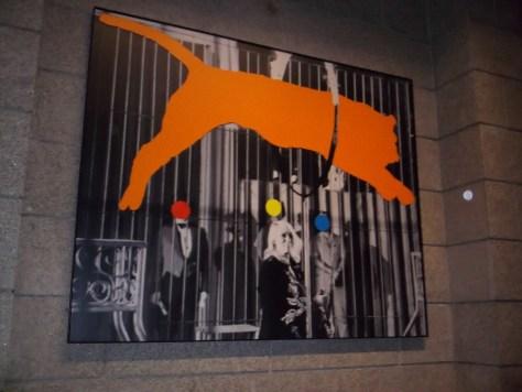 John Baldessari Tiger and Trainer with 3 Figures