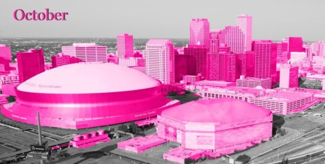 Aerial View of New Orleans in Pink