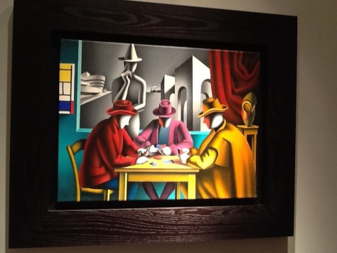 Mark Kostabi Card Players