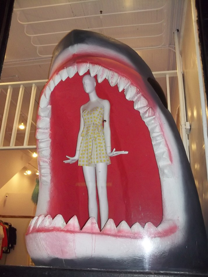 Shark Attack Store Window Display Front