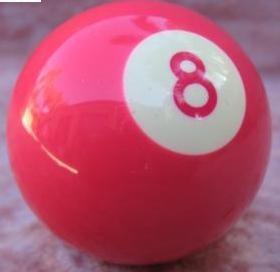 Hot Pink Eight Ball