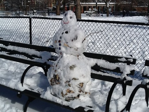 Ghetto Snowman In Tompkins Square Park