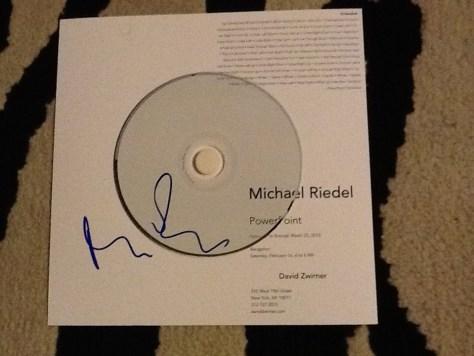 Michael Riedel Invite