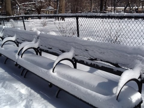 Snow Cushion On Benches