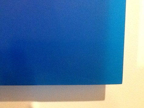 Blue Square Detail By Peter Alexander