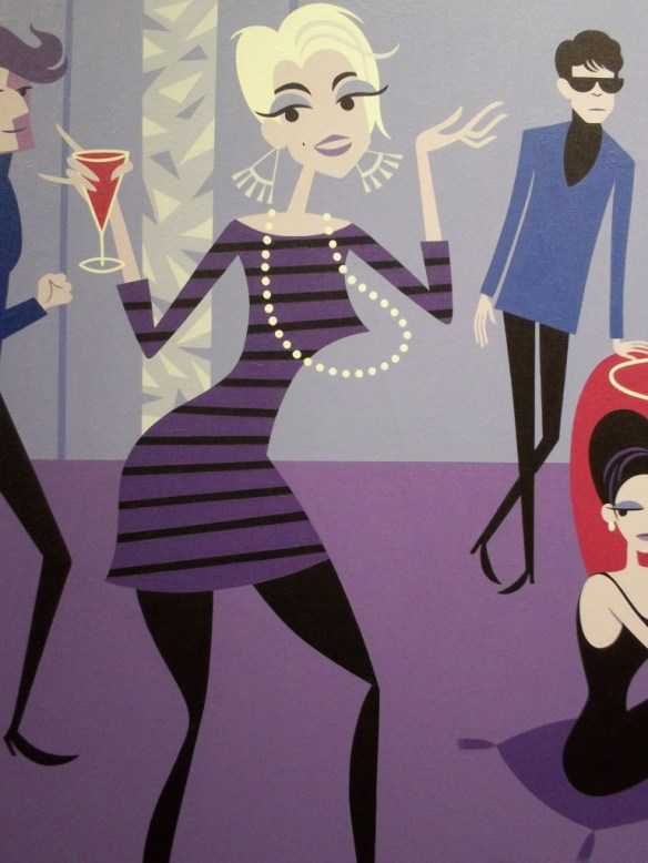 Party Scene 2 with Girl Detail By Shag