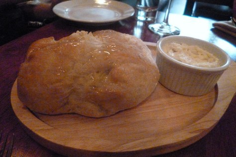 Fresh Made Ciabatta Bread with Whipped Blue Cheese Spread