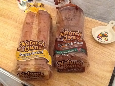 Natures Own White and Wheat Bread