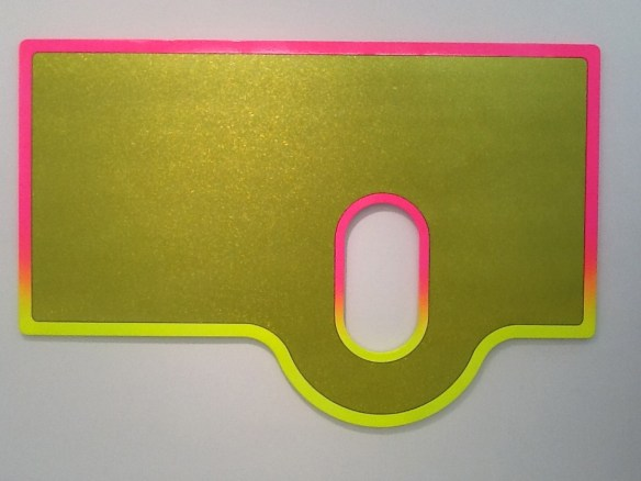Xstraction Pink and Yellow Sculpture