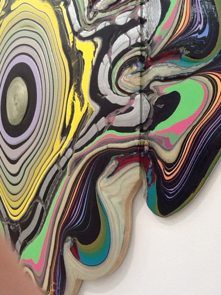 Holton Rower Pour Painting Close Up