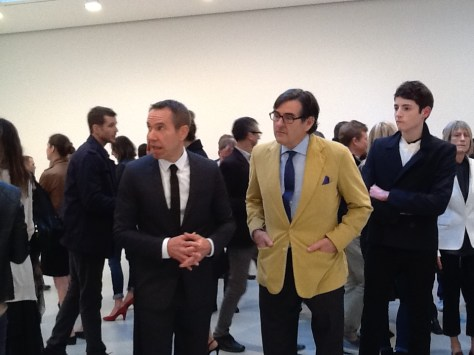Jeff Koons and Peter Brant