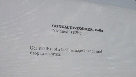 Felix Gonzalez Torres Untitled Instructions