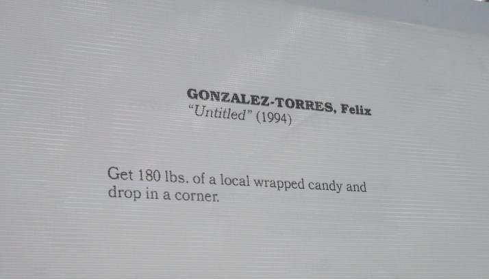 Felix Gonzalez Torres Untitled Instructions