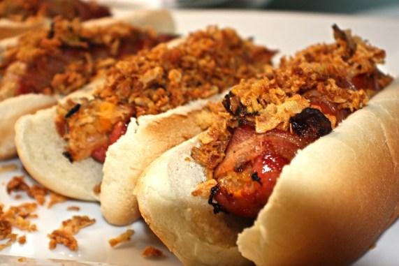 OC Bacon Wrapped Hot Dog