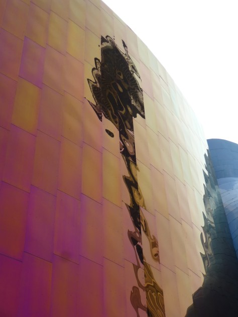 Space Needle Reflected in EMP Building Exterior