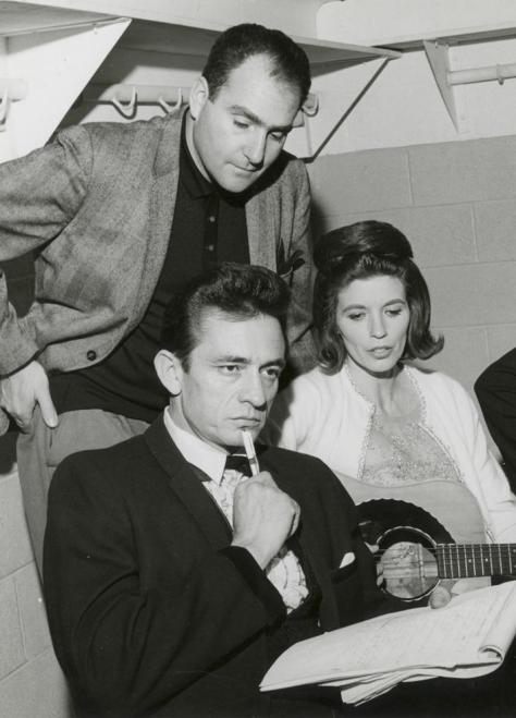 Saul with Johnny and June