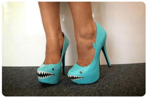 Shark Attack High Heeled Shoes