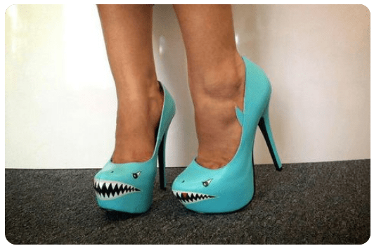 Shark Attack High Heeled Shoes