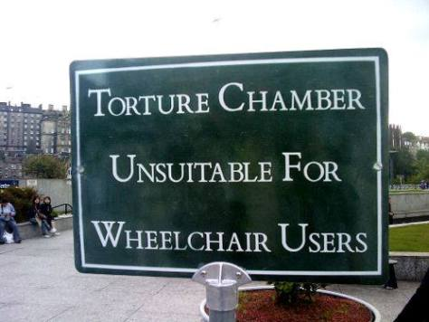 Torture Chamber Sign
