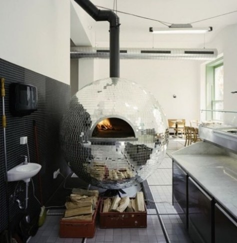 Disco Ball Pizza Oven