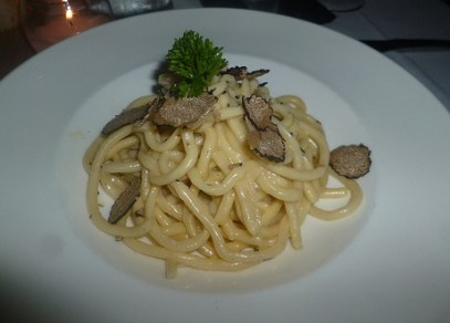 Spaghetti with Black Truffles