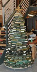 Christmas Tree Made of Books