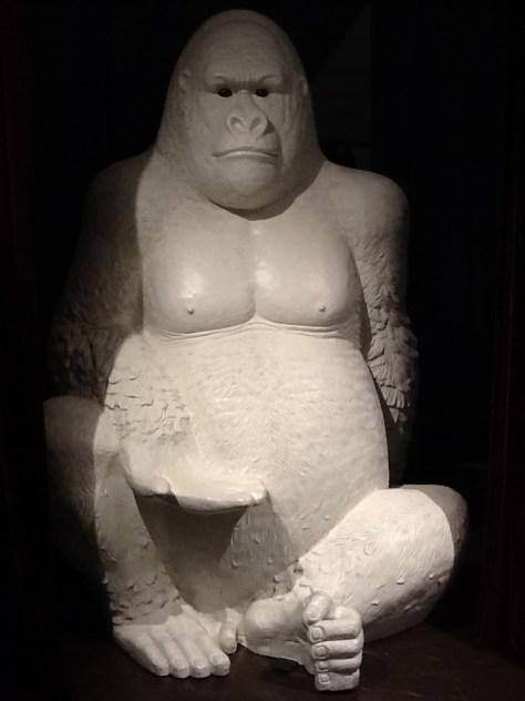 Giant White Gorilla Display