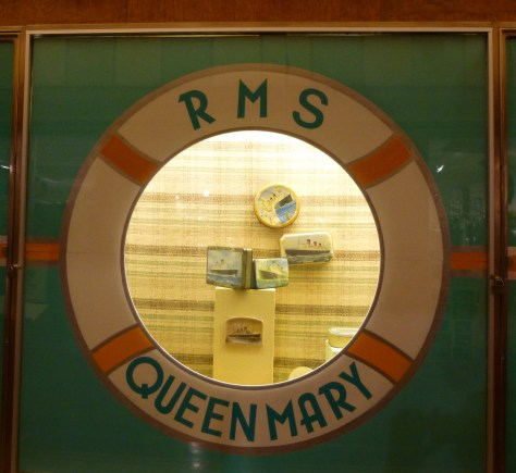 RMS Queen Mary Porthole Display