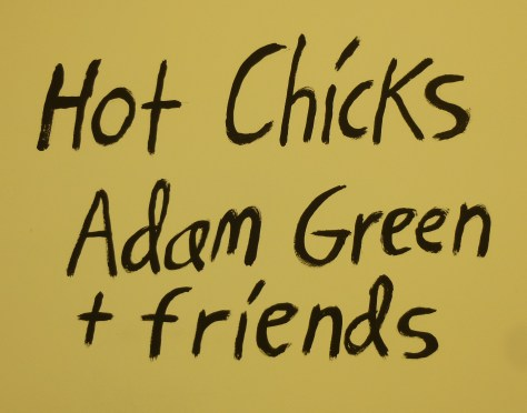 Adam Green Hot Chicks Signage