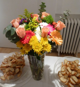 Flowers and Baguette