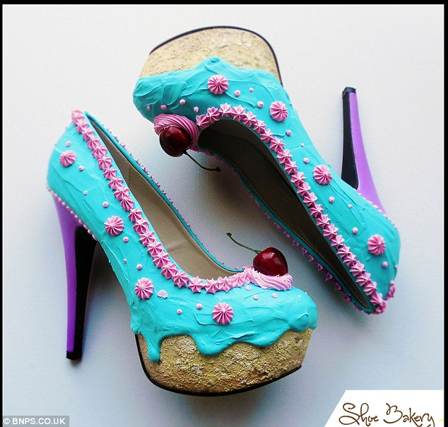 Cake Shoes Blue
