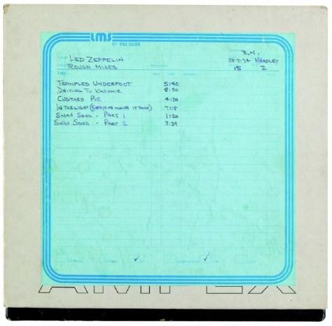 Led Zeppelin Song List