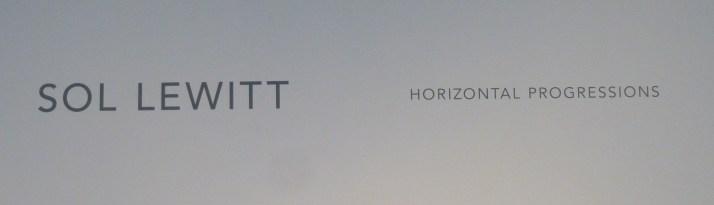 Sol Lewitt Horizontal Progressions Signage