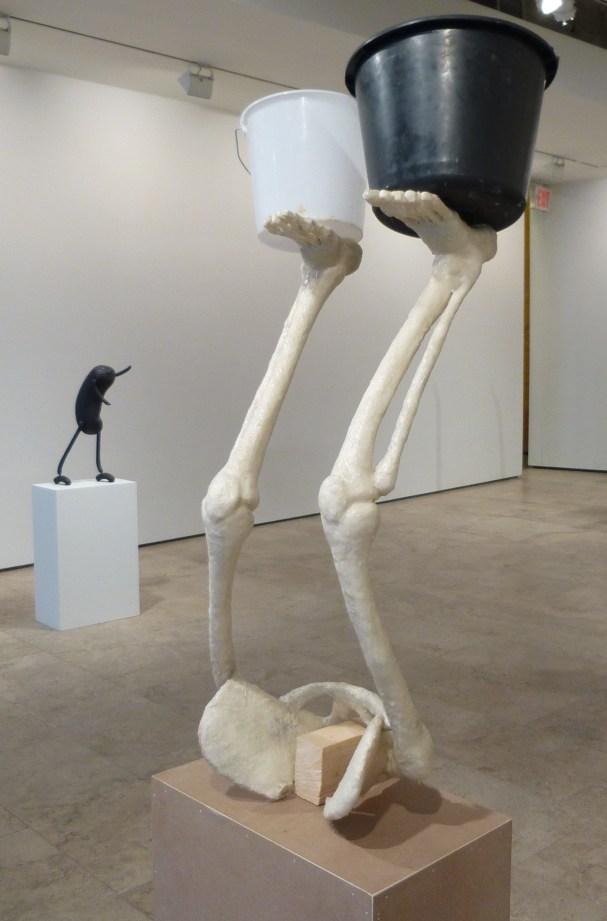 Erwin Wurm Skeleton Legs Buckets
