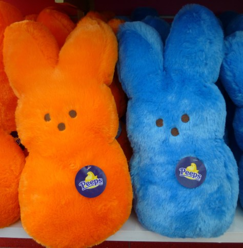 Orange and Blue Plush Bunny Peeps
