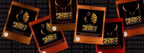Perky Jerky New Flavors Banner
