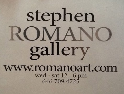 Stephen Romano Gallery Signage