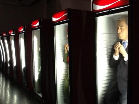 Row of Coke Cases