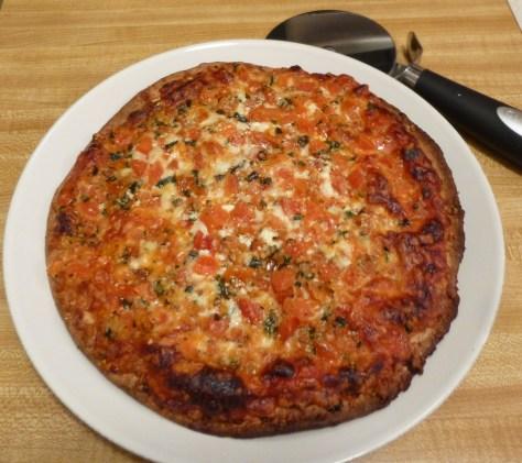 Bruschetta Style Pizza Cooked