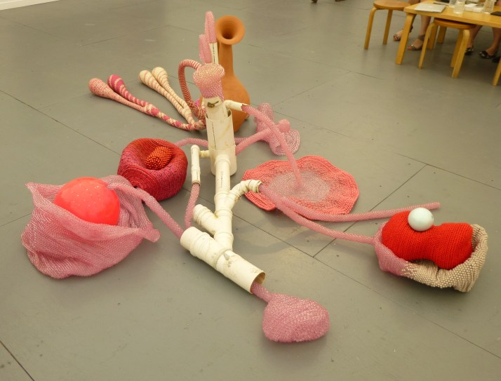 Pink Abstract Sculpture
