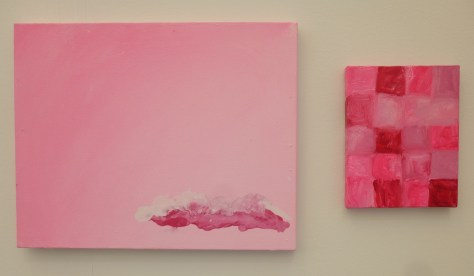 Two Pink Paintings