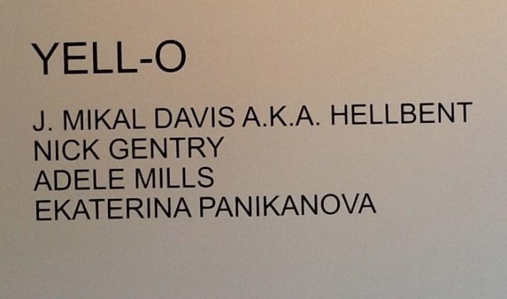 Yello Exhibit Sign