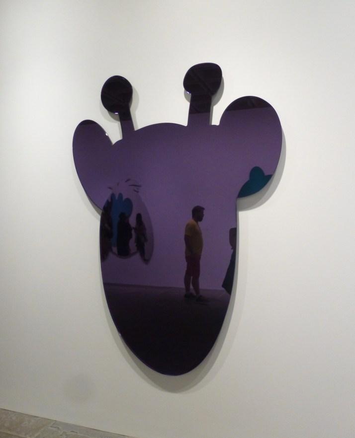 Purple Giraffe Mirror
