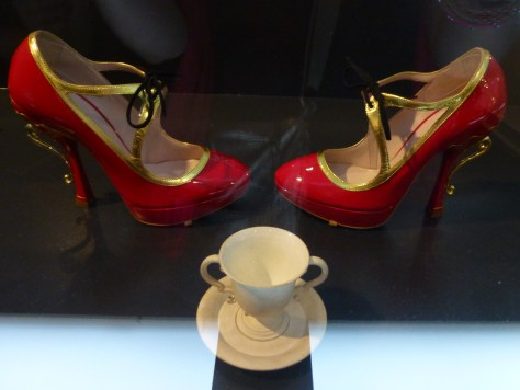 Red Wedgewood Pumps